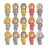 Povos engraçados de todas as cores Fotografia de Stock
