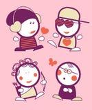 Povos engraçados do Valentim. Fotos de Stock Royalty Free
