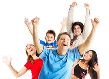 Povos engraçados felizes Imagens de Stock