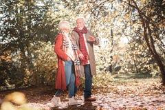 Povos envelhecidos agradáveis que vão em uma data foto de stock