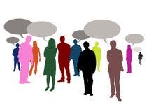 Povos faladores ilustração stock