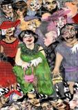 Povos feios, assustadores do zombi Imagem de Stock Royalty Free