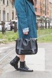 Povos fora da construção do desfile de moda de Gucci para Milan Women Fas Fotos de Stock