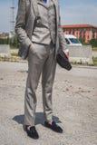 Povos fora da construção do desfile de moda de Gucci para o Fashi de Milan Men Imagens de Stock Royalty Free