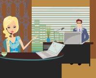 Povos formalmente vestidos no escritório ilustração do vetor