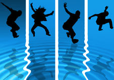 Povos frescos do Aqua Imagem de Stock