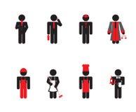 Povos - grupo do ícone Imagem de Stock