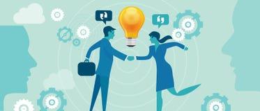 Povos incorporados da colaboração da inovação da empresa ilustração do vetor