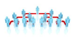 Povos incorporados da rede 3d do negócio da hierarquia Imagens de Stock