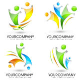Povos Logo Set Foto de Stock Royalty Free