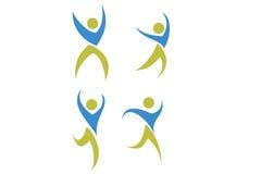 Povos Logo Set Fotos de Stock
