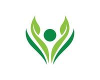 Povos Logo Template Design Vetora da natureza, emblema, conceito de projeto, símbolo criativo, ícone ilustração royalty free