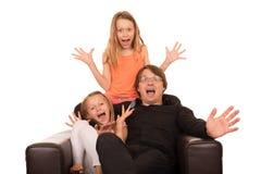 Povos loucos que gritam e que riem Fotografia de Stock Royalty Free