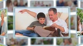 Povos maduros que tomam de suas famílias video estoque