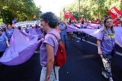 Povos marcha de protesto em uma 28 Imagens de Stock