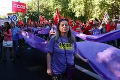 Povos marcha de protesto em uma 29 Fotos de Stock Royalty Free