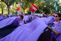 Povos marcha de protesto em uma 31 Fotografia de Stock