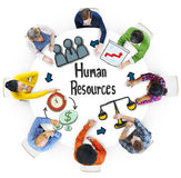 Povos multi-étnicos com conceitos dos recursos humanos imagem de stock