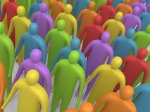 Povos Multicolor #4 Foto de Stock Royalty Free