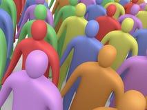 Povos Multicolor #4 Imagens de Stock