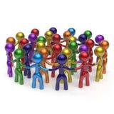 Povos mundiais do grupo do círculo social da multidão da rede grandes ilustração stock