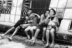 Povos na CIDADE DA GUATEMALA, GUATEMALA Fotografia de Stock Royalty Free