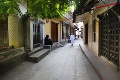 Povos na cidade de pedra zanzibar Fotografia de Stock Royalty Free
