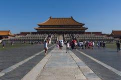 Povos na Cidade Proibida na cidade do Pequim, em China Imagem de Stock Royalty Free