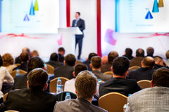 Povos na conferência Fotografia de Stock Royalty Free