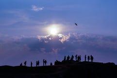 Povos na costa de Baikal Imagem de Stock