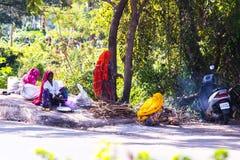 Povos na estrada, Goa Imagens de Stock Royalty Free