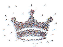 Povos na forma de uma coroa Fotos de Stock Royalty Free