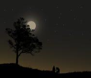 Povos na meia-noite  Imagens de Stock Royalty Free