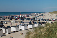 Povos na praia Foto de Stock