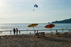 Povos na praia Imagem de Stock