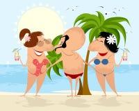 Povos na praia ilustração stock