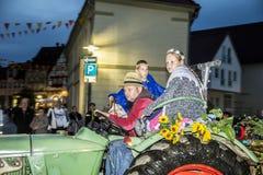 Povos na procissão dos fazendeiros para recordar o revoluti do fazendeiro Imagem de Stock Royalty Free