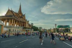 Povos na rua do país asiático - Vietname e Camboja Fotografia de Stock