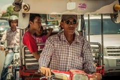 Povos na rua do país asiático - Vietname e Camboja Foto de Stock Royalty Free
