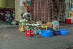 Povos na rua do país asiático - Vietname e Camboja Fotos de Stock Royalty Free