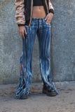 Povos na semana de moda 2016 de Milan Men Imagem de Stock