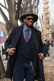 Povos na semana de moda 2016 de Milan Men Foto de Stock Royalty Free