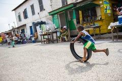 Povos na VILA de EMBERA, PANAMÁ Fotos de Stock Royalty Free