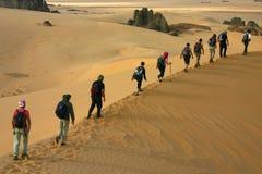 Povos nas dunas de areia Foto de Stock