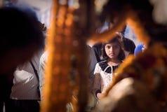 Povos nas ruas de India Foto de Stock
