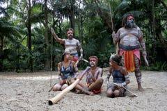 Povos nativos dos australianos em Queensland Austrália fotografia de stock