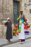 Povos nativos em Havana, Cuba Imagens de Stock