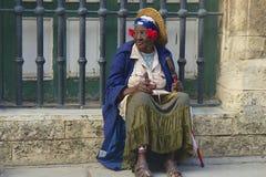 Povos nativos em Havana, Cuba Imagens de Stock Royalty Free