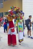 Povos nativos em Havana Cuba, das caraíbas Fotos de Stock Royalty Free