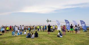Povos no airshow Aeromania, Tuzla, Romênia Imagem de Stock Royalty Free